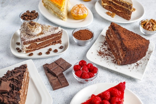 assortment pieces cake 114579 28274
